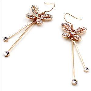Lovely butterfly crystal earrings